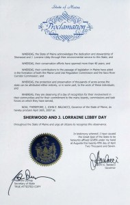Sherwood and J. Lorraine Libby Day Proclamation