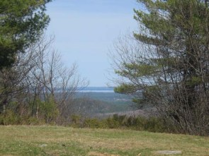 view of Sebago Lake from the summit of Sawyer Mountain
